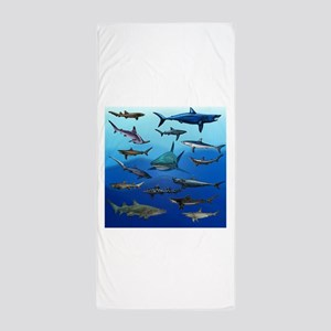 Shark Gathering Beach Towel